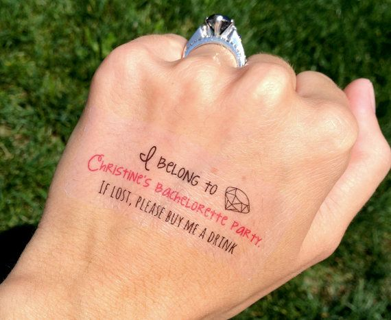 Lovely words and ring bride tattoo