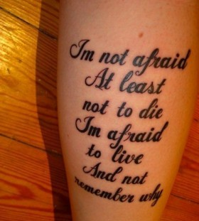 Lyric song scary tattoo