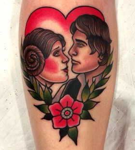 Man and woman tattoo by Clare Hampshire