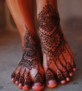 Mandala and ornaments bride tattoo