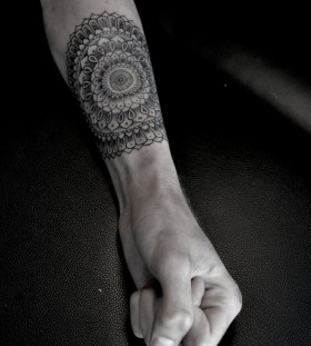 Mandala arm tattoo by Thomas Cardiff