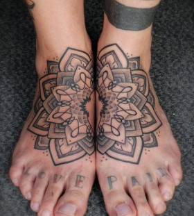 Mandala foot tattoos by Gerhard Wiesbeck