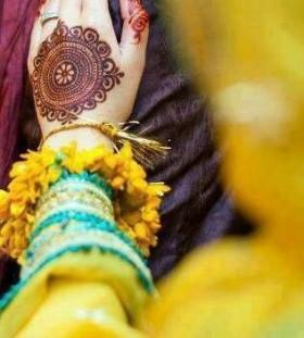 Mandala style bride tattoo