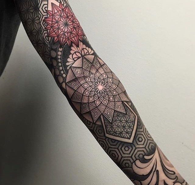 mandala style full sleeve tattoo by laurajadetattoos