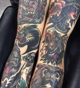 Many animal tattoos by James McKenna