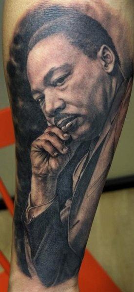 Martin Luther King tattoo by Xavier Garcia Boix