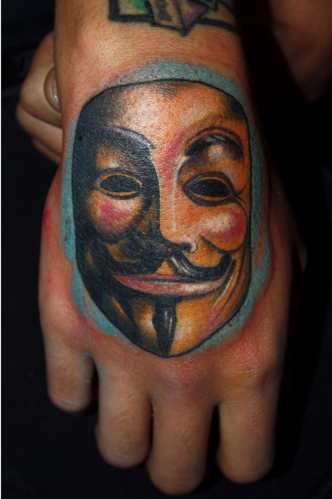 Mask of V hand tattoo - | TattooMagz › Tattoo Designs ...