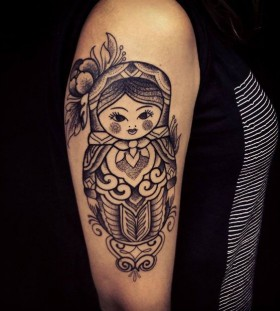 Matryoshka tattoo by Brian Gomes
