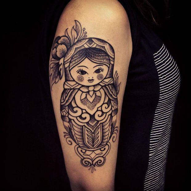 Matryoshka tattoo by Brian Gomes