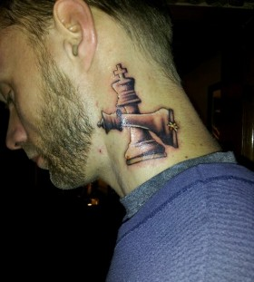 Men's lovely chess tattoo