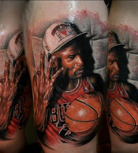 Michael Jordan tattoo by Benjamin Laukis