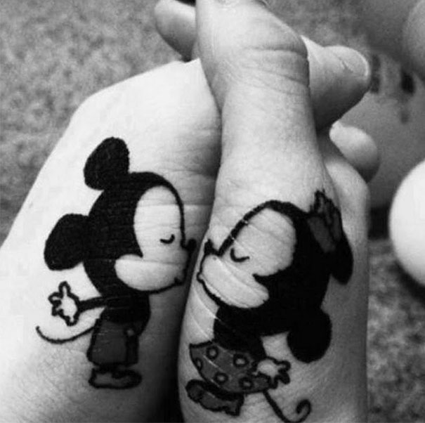 Mikey and Mini couples tattoos