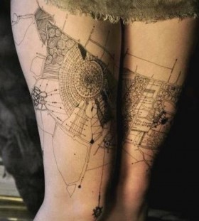 Moscow artist architecture tattoo