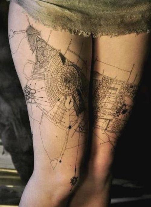 Moscow artist architecture tattoo - | TattooMagz › Tattoo