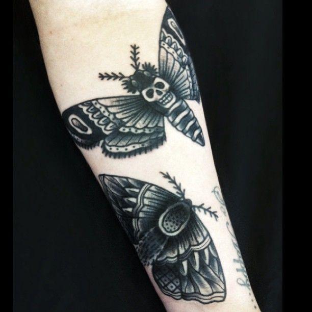 Moth tattoo by Matt Cooley