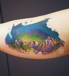 mountains-and-space-watercolor-tattoo