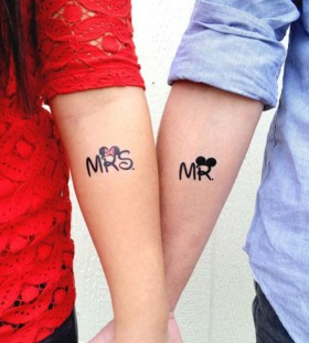 Mr and Mrs couples tattoos