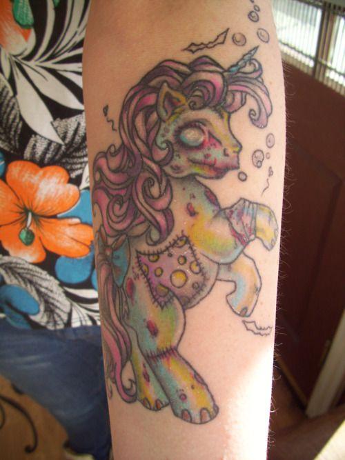 My little pony zombie tattoo by Flo Nuttall