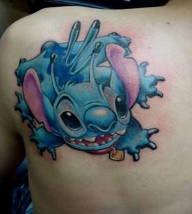 Nice Stitch back tattoo