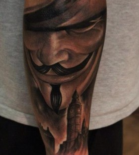 Nice V for vendetta arm tattoo