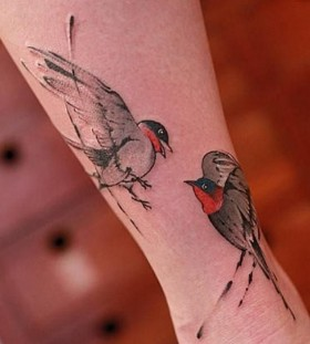 Nice birds tattoo by Chen Jie