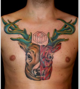 Nice deer tattoo design