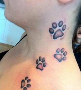 Nice dog paws tattoo