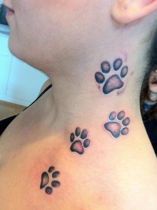 Nice dog paws tattoo
