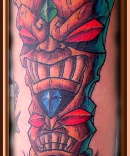 Nice double tiki tattoo