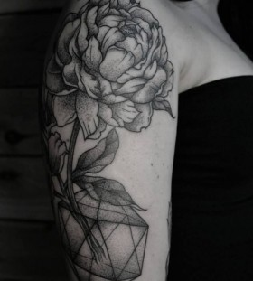 Nice flower tattoo by Thomas Cardiff
