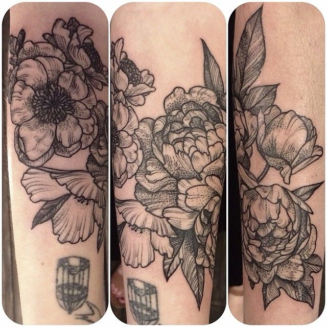 Nice flowers tattoo by Rachel Hauer