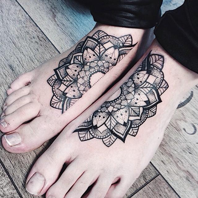 Nice foot tattoo design
