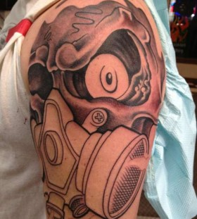 Nice gas mask tattoo