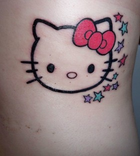 Nice hello kitty back tattoo
