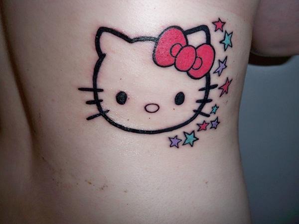 639501a81fa1c Nice hello kitty back tattoo - | TattooMagz › Tattoo Designs / Ink ...