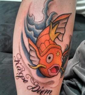 Nice magikarp leg tattoo