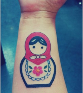 Nice matryoshka arm tattoo