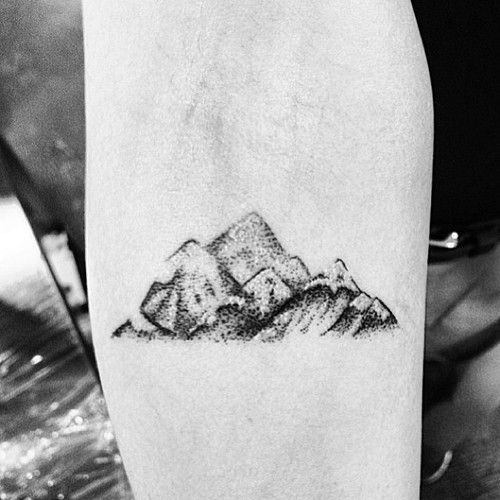 Nice mountains tattoo by Rebecca Vincent