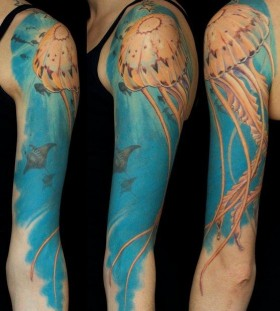 Nice ocean theme tattoo