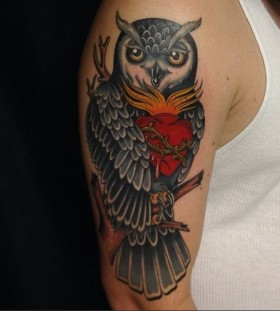 Nice owl arm tattoo