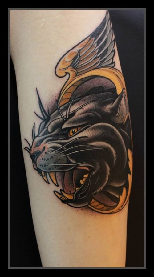 Nice panther tattoo design
