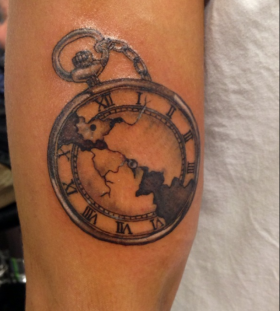 Nice pocket watch tattoo