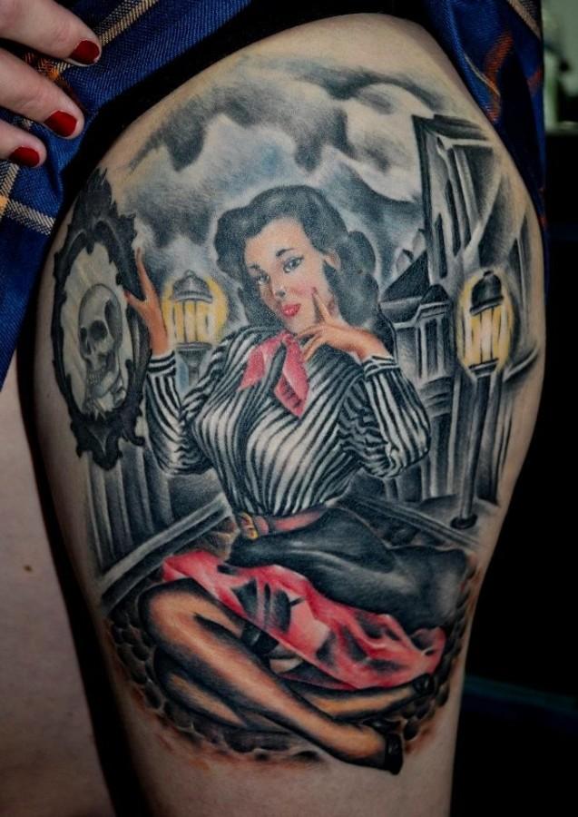 Nice tattoo by Benjamin Laukis