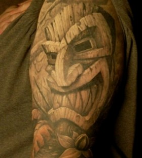 Nice tiki sleeve tattoo