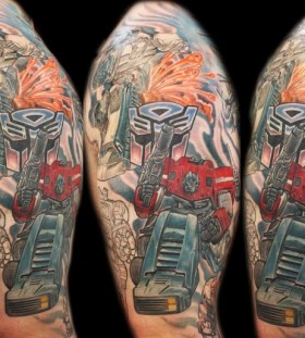 Nice transformers arm tattoo