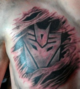 Nice transformers logo tattoo