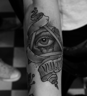 Nice triangle eye tattoo