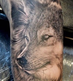 Nice wolf tattoo by Elvin Yong