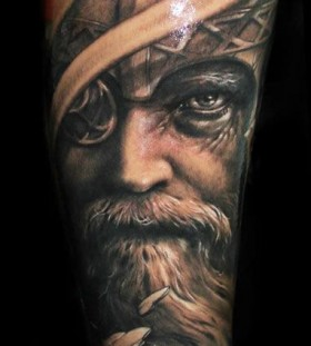 Old man tattoo by Riccardo Cassese