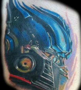 Optimus prime head tattoo